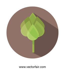 ecology leaves foliage nature button block and flat icon