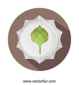 ecology leaves foliage nature environment block and flat icon