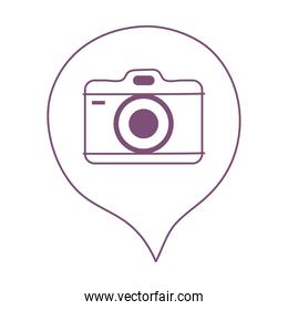 photo camera speech bubble app social network isolated on white background