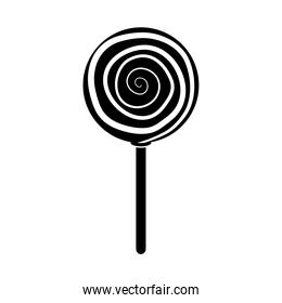 candy in stick confectionery sweet silhouette icon