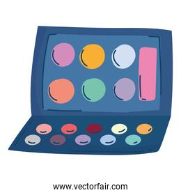 makeup palette color eyeshadow palette isolated white background