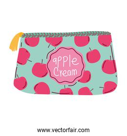 cosmetic bag accessory makeup isolated white background