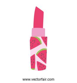 watermelon lipstick cosmetic makeup isolated white background