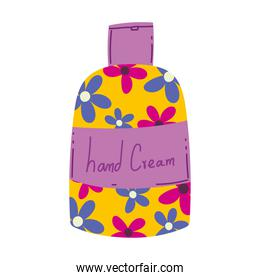 makeup cosmetic skin care hand cream bottle isolated white background