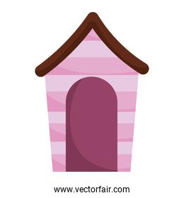 wooden pet house cartoon isolated white background design