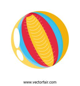 rubber ball on white background