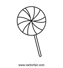 sweet lollipop candy line style icon