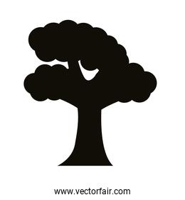 leafy tree silhouette style icon