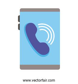 smartphone device with phone flat style icon