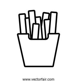 french fries pop art line style