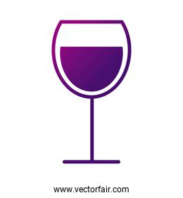 wine cup drink gradient style icon
