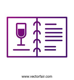 wine cup drink in menu card gradient style icon