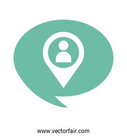 avatar user in pin location flat style icon