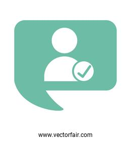 avatar user with check symbol flat style icon