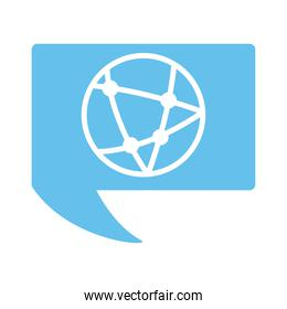 sphere browser style flat icon