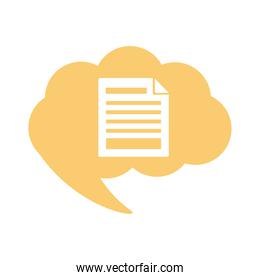 paper document flat style icon