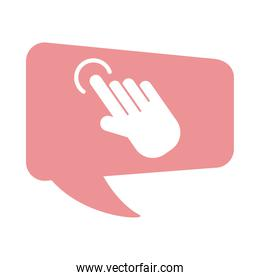 hand indexing flat style icon
