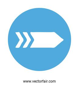 right arrow direction block style icon