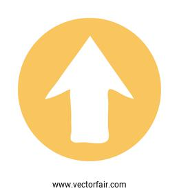 up arrow direction block style icon