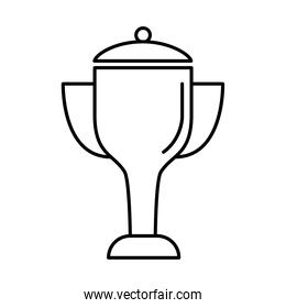 trophy cup award line style icon