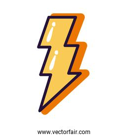 power ray slang line and fill style icon