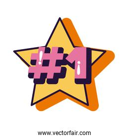 slang expresion number one word in star line and fill style
