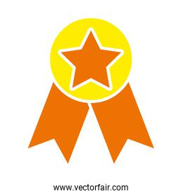 star medal icon, flat style