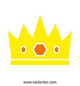 king crown icon, flat style