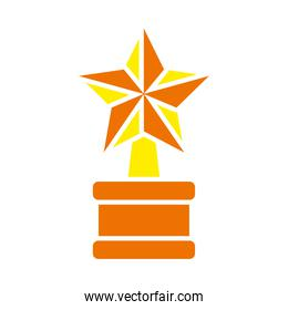 star award trophy icon, flat style