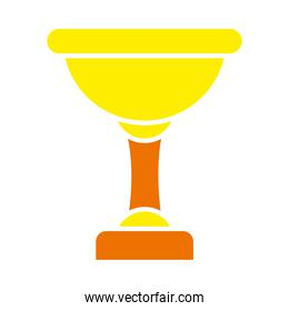 trophy cup icon, flat style