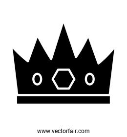 king crown icon, silhouette style