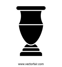 decorative trophy icon, silhouette style