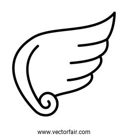 angel wing icon image, line style