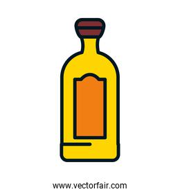 bottle of tequila icon, line and fill style