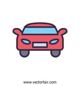 car line and fill style icon vector illustration