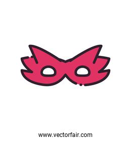 party mask line and fill style icon vector design