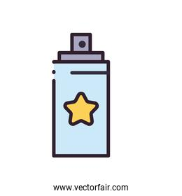 party spray bottle line and fill style icon vector design