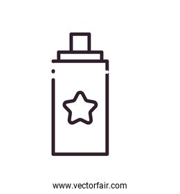 party spray bottle line style icon vector design