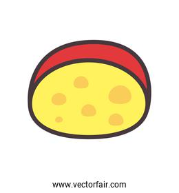 cheese line and fill style icon vector design