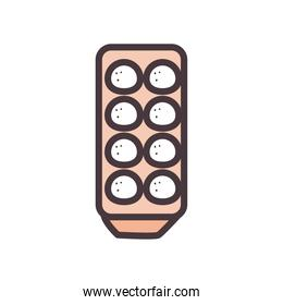 eggs line and fill style icon vector design