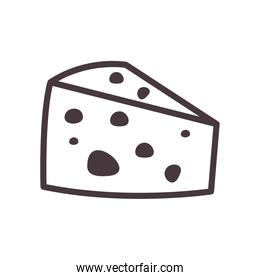 cheese line style icon vector design