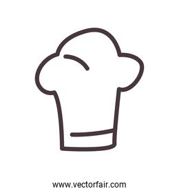 chefs hat line style icon vector design