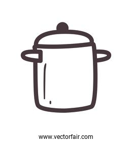cook pot line style icon vector design
