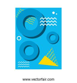blue abstract background with circular shapes, colorful design