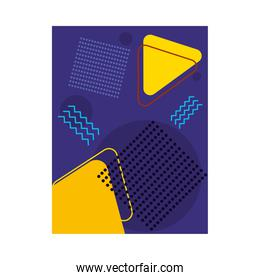 purple background with geometric figures colorful design