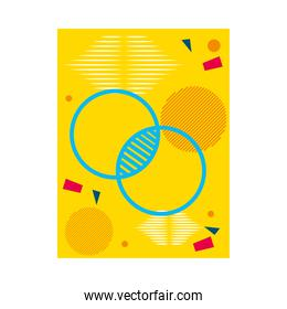 yellow abstract background with circular shapes, colorful design