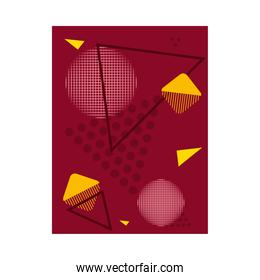 abstract background with triangular shapes, colorful design