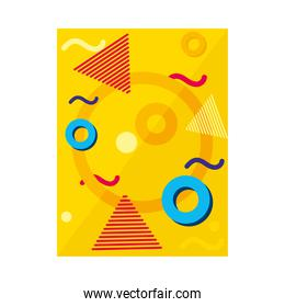 abstract background with geometric shapes, colorful design