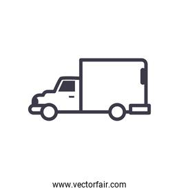 truck vehicle line style icon vector design