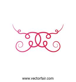vintage ornament divider icon, flat style